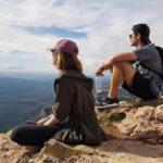 Hiking trails in Montserrat near Barcelona