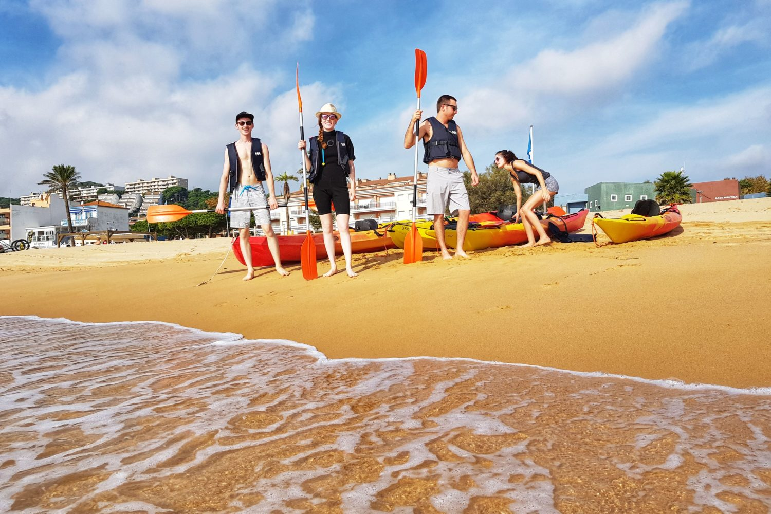 The coastal excursions with the sea kayaks are among the most exciting outdoor activities in Barcelona.