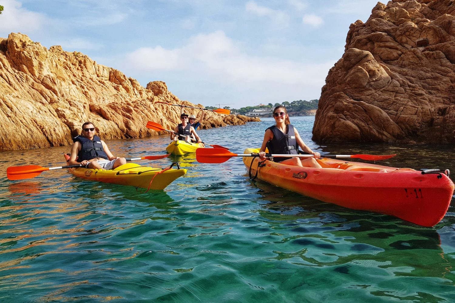 Small group kayaking tours from Barcelona include a coastal walk and plenty of time to relax on the beach.