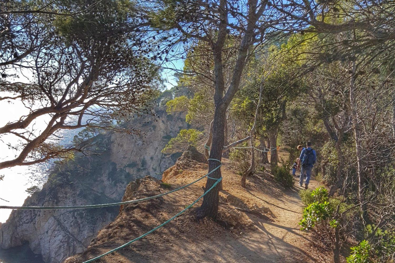 The coastal path from Tossa de Mar to Cala Bona.