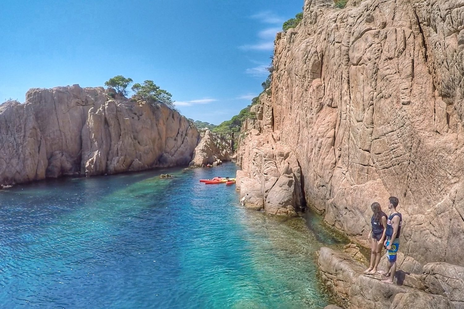 The secret kayaking and cliff jumping bay in the Costa Brava