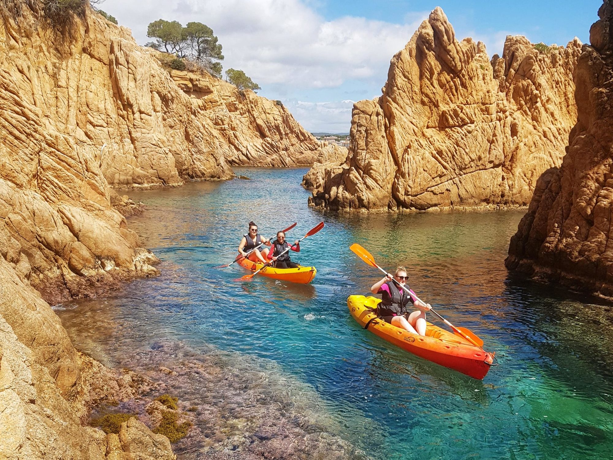Propel among beautiful sand rock formations in the Costa Brava