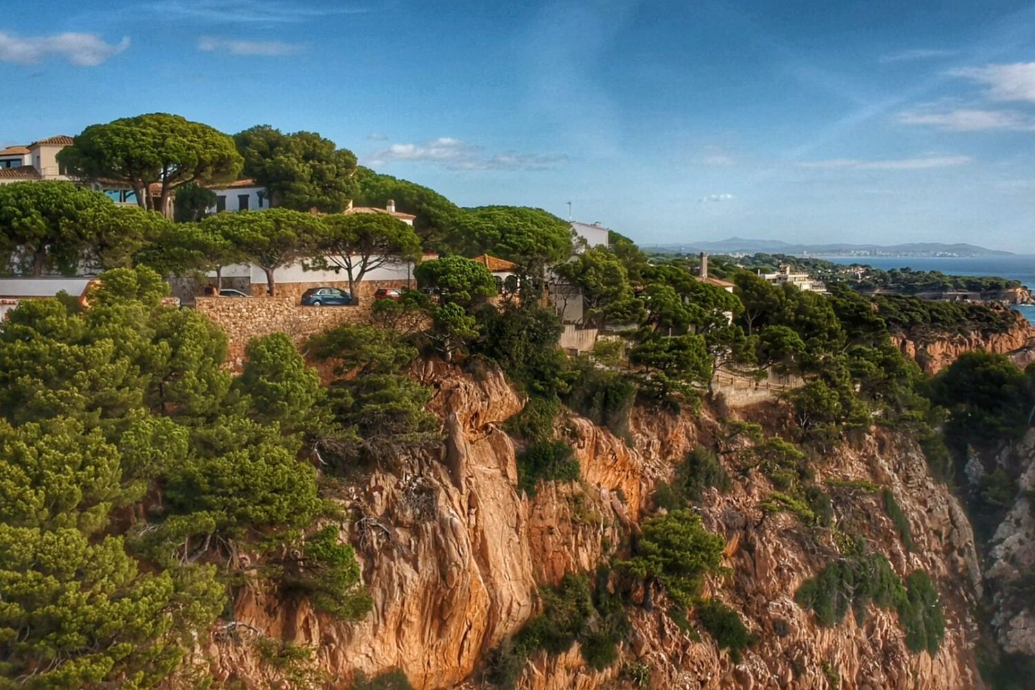 Dron view of the Costa Brava