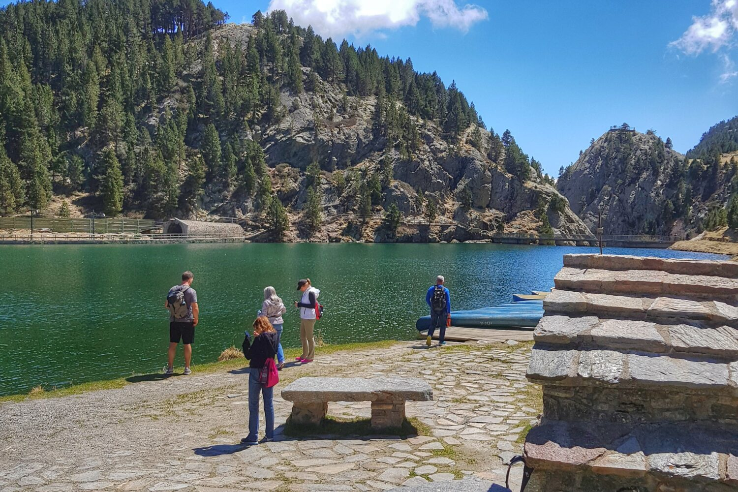 Relax and lake in Vall de Nuria