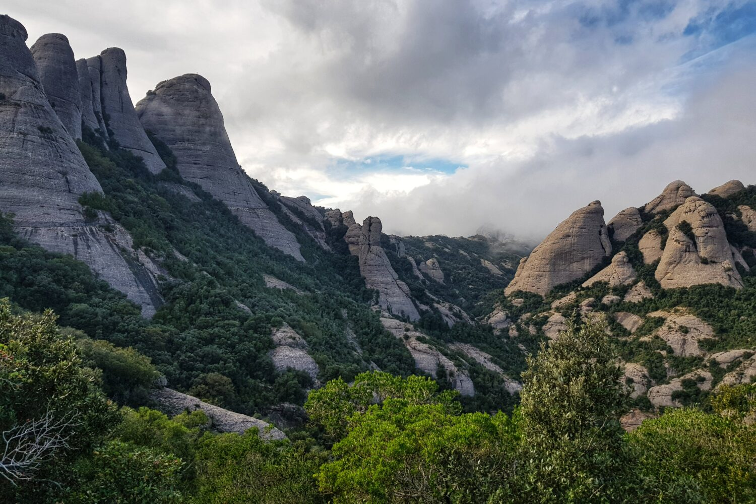 The conglomerate towers in Montserrat