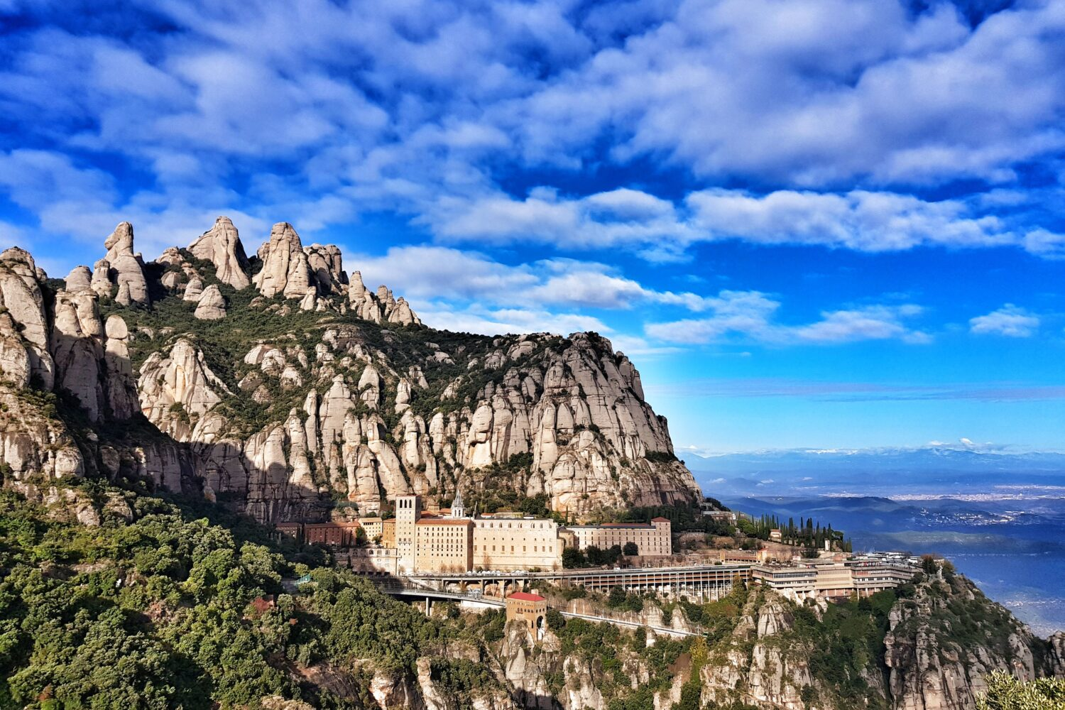 The famous viewpoint in Montserrat