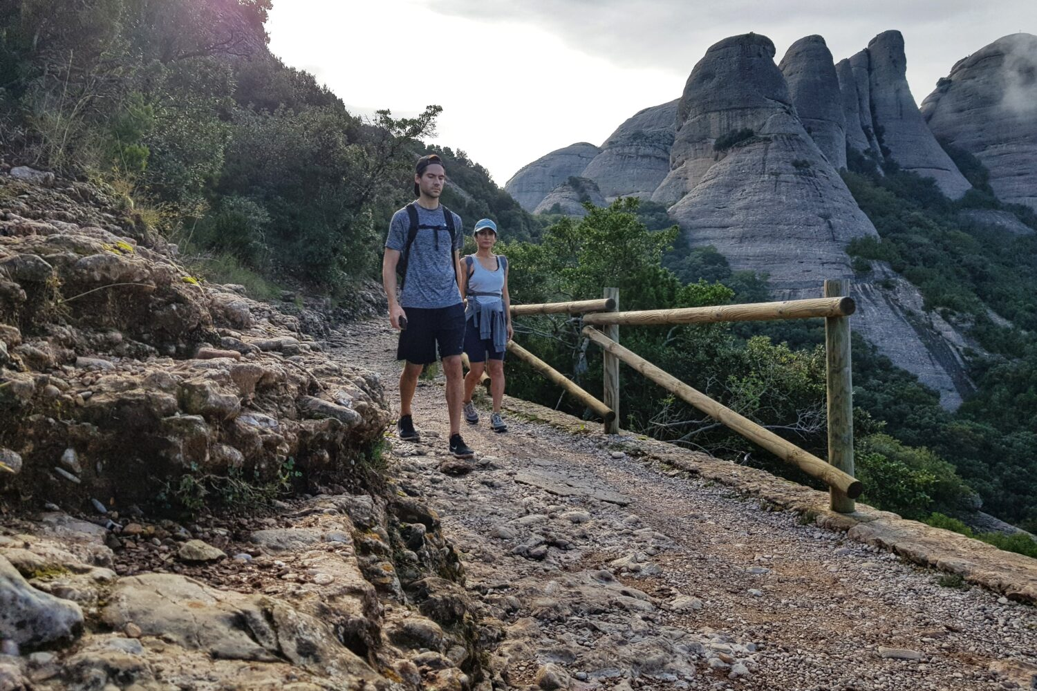 Hiking trails in Montserrat