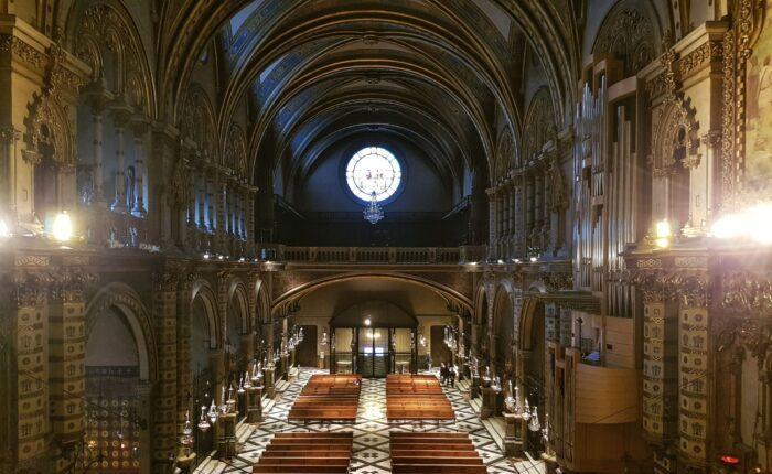 The main nave in the Benedictine Monastery of Montserrat