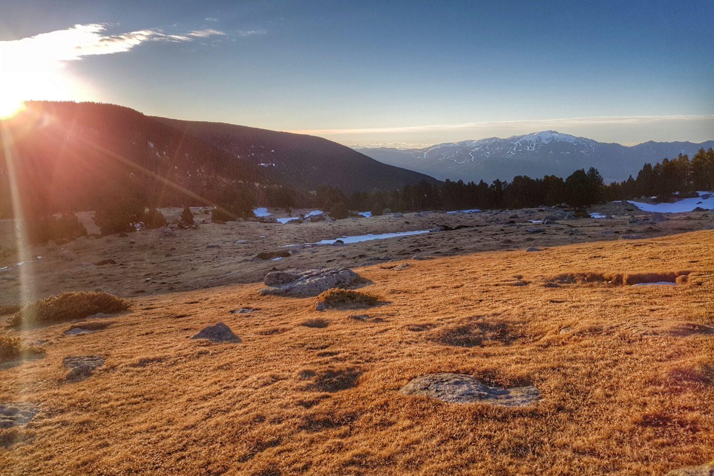 Sunrise over the Cerdanya valley
