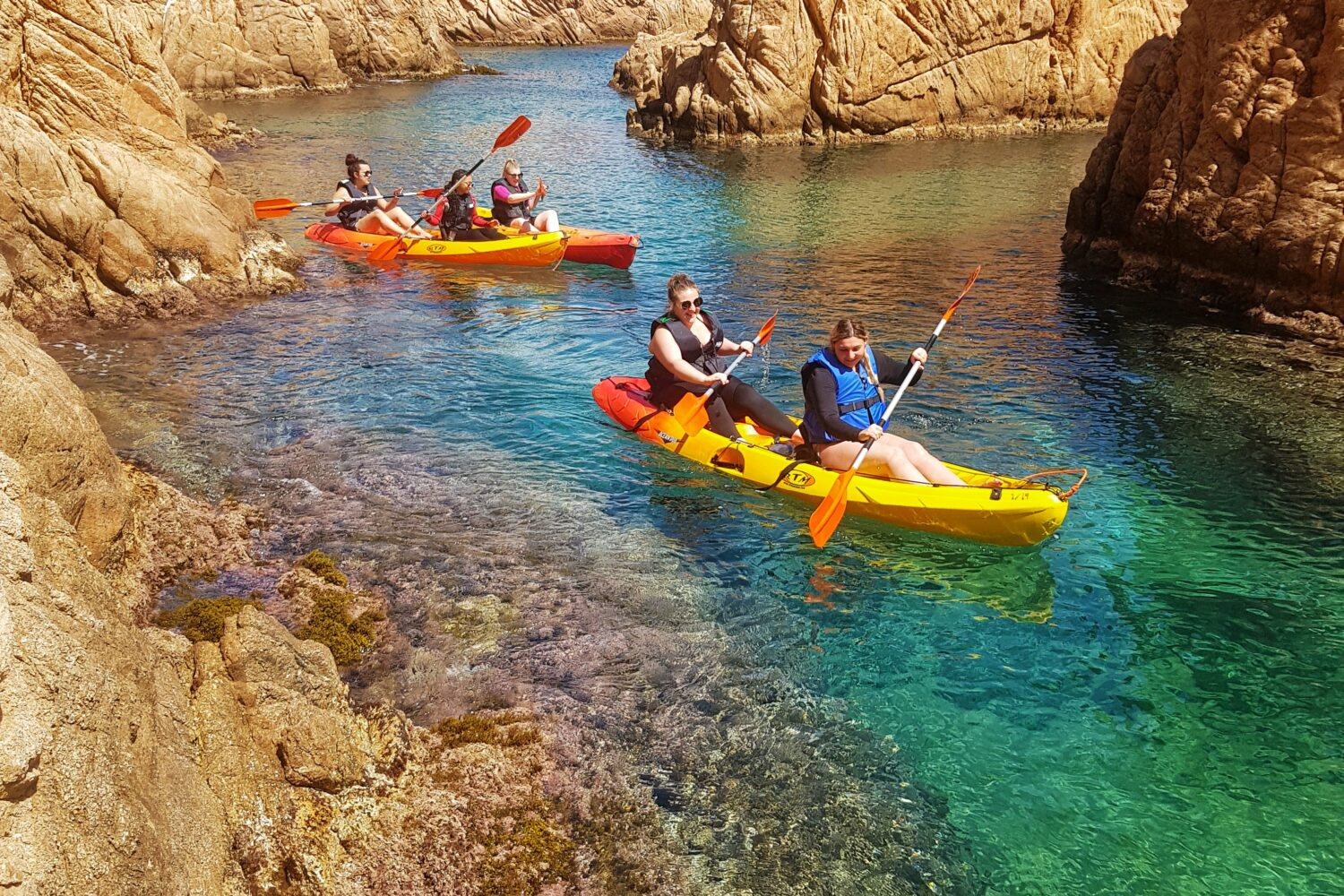 Sandstone cliffs and coves in the Costa Brava