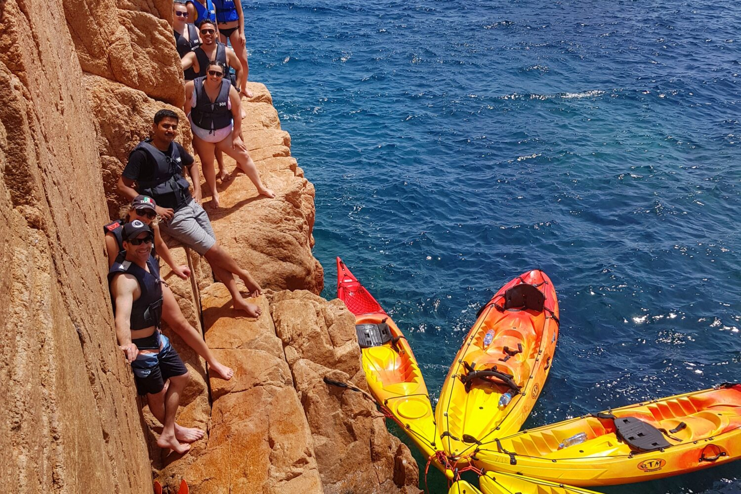 Secluded bay and kayaking experiecnes in the Costa Brava