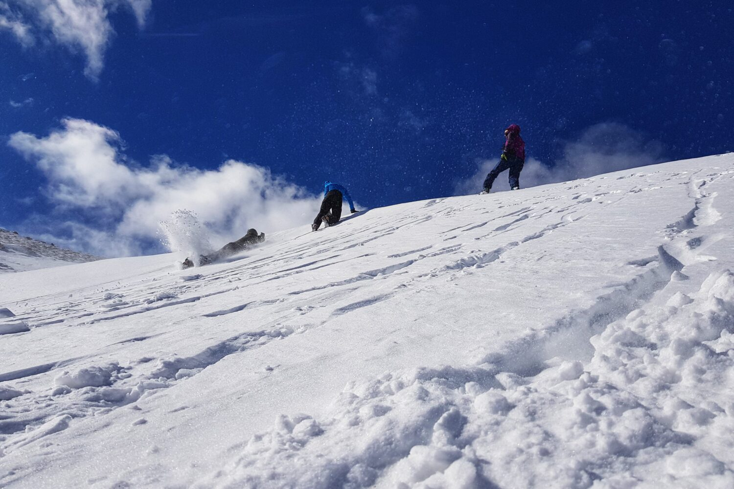 Snow activities and avalanche rescue exercise