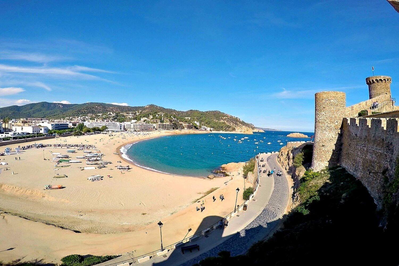 The main beach in Tossa de Mar