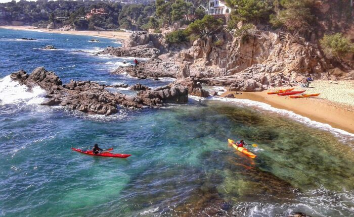 Kayaking in Costa Brava near Barcelona